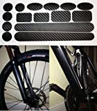 Carbon Fibre Full protector set for Bicycle Bike Cycle MTB BMX Chainstay, Down Tube, Forks / Front Suspension, Patches. Made by Ellis Graphix