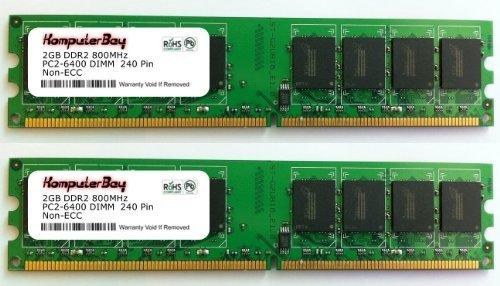 240 Pin Dimm Lp (Komputerbay 4 GB (2 x 2 GB) DDR2 DIMM (240 pin) AM2 800 mhz PC2 6400/PC2 6300 aowallao FOR aowallao DFI LP DK 790FXB - M2RSH 4 GB)