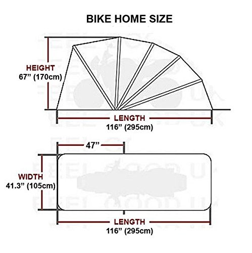 FeelGoodUK Motorbike Motorcycle Bike Cover Shelter Garage (BH01)