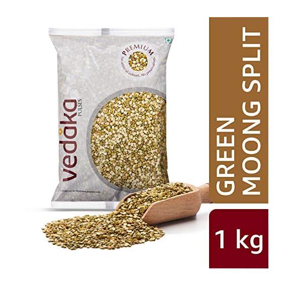 Amazon Brand - Vedaka Premium Green Moong Split/Chilka, 1 kg
