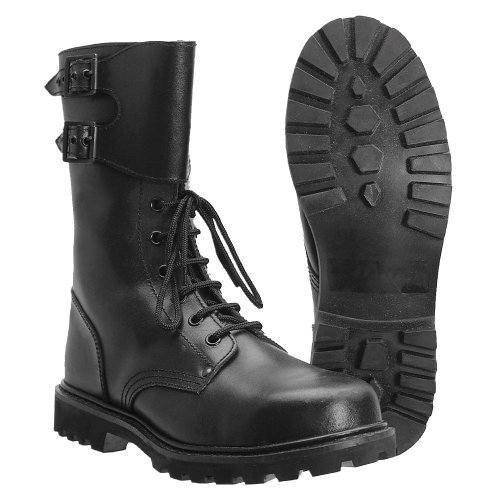 Miltec - Botas de combate color negro
