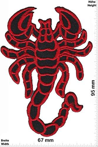 Patch - Red Scorpion - Skorpion - Oldschool - Rockabilly - Tatoo - Old School Punk Rocks- Patches - Aufnäher Embleme Bügelbild Aufbügler