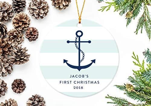 ihnachtsdekoration Weihnachtsbaum-Dekoration Anker Nautisches Baby Ornament für Kinder ()
