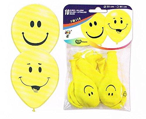 30 Luft-ballon-s Smily-s (25 cm) Kinder-Geburtstag-Fete-lachen-Happy-Birthday-EU Ware ! Keine billige China Ware - nicht gesundheitsschädlich