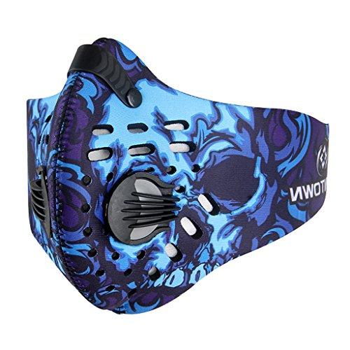 Unisex Herren Damen Gesicht Mund Maske Gesichtsmaske Mundschutzmaske Staubschutz für Radfahren Fahrrad Motorrad Bike Sport - Blau, XXXL