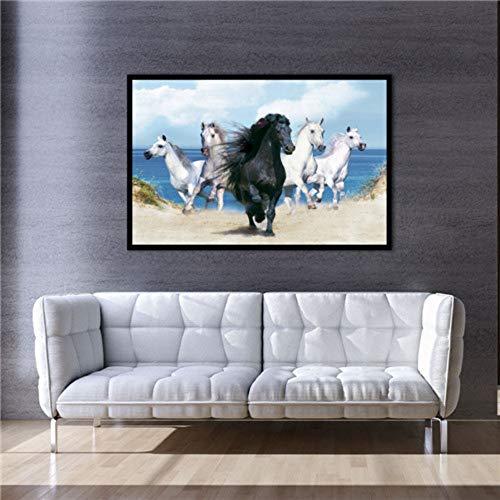 Leinwanddrucke, Modernen Afrika Dschungel Wildes Tier Pferd, Wall Art Bild Poster Drucken Home Einrichtung Kein Rahmen Für Büro, Küche, Schlafzimmer, Wohnzimmer, Flur, Shopping Mall, 15 × 20 Cm