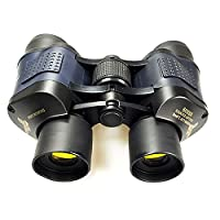 Forfar Premium Binoculars 60x60 Zoom Binoculars Telescope with Optics Night Vision IR HD Green Film Black Portable New