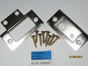 Lamellentürscharnier, 50 x 24 mm, 2 Stk., 0360896