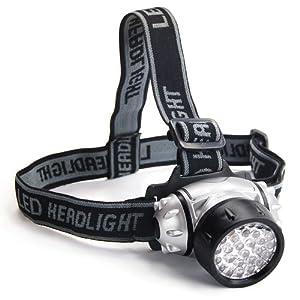 DIGIFLEX Lampe torche frontale avec fonction flash équipée de 28 LED et résistante à l'eau par DIGIFLEX
