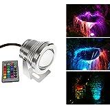 Mini 12V RGB LED 10W IR Remote IP68 impermeabile Fontana piscina lampada paesaggio stagno (nessun Plug, bisogno di cablaggio)