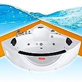 Whirlpool Pool Badewanne Eckwanne Wanne A1506N-ALL 152x152cm Reinigungsfunktion, Sonderfunktion1:mit Radio+Farblicht +50.-EUR;Selfclean:aktive Schlauch-Reinigung +90.-EUR