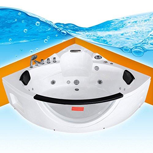 Whirlpool Pool Badewanne Eckwanne Wanne A1506N-ALL 152x152cm Reinigungsfunktion, Sonderfunktion1:mit Radio+Farblicht +50.-EUR;Selfclean:aktive Schlauch-Reinigung +90.-EUR Der Wasserfall Am Pool Pumpe