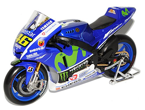 Maisto Yamaha Factory Racing YZR-M1 Moto GP 2015 Valentino Rossi Nr 46 1/10 Modell Motorrad