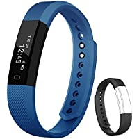 Fitness Tracker Flenco Fitness Watch Bluetooth Touch Screen Activity Tracker Health Monitor Smart Bracelet Exercise Sport Watch Wearable Pedometer Wristband With Sleep Monitor Calorie Counter Step Counter For Kids Women Ladies Girls Boys Children Men Running Walking For android IOS iPhone