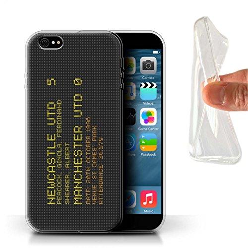 Officiel Newcastle United FC Coque / Etui Gel TPU pour Apple iPhone 6+/Plus 5.5 / Pack 7pcs Design / NUFC Résultat Football Célèbre Collection 1996