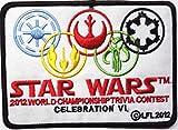 Star Wars Celebration vi-2012Championship Schwarz Bordüre bestickt abzeichen Patch Aufnäher oder 12,75cm Bügelbild