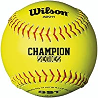 Wilson A9011 Baseball/Softball, Unisex Adulto, Yellow, 12