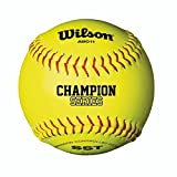 Wilson Unisex A9011 Nfsha Softball, Yellow, Size 12