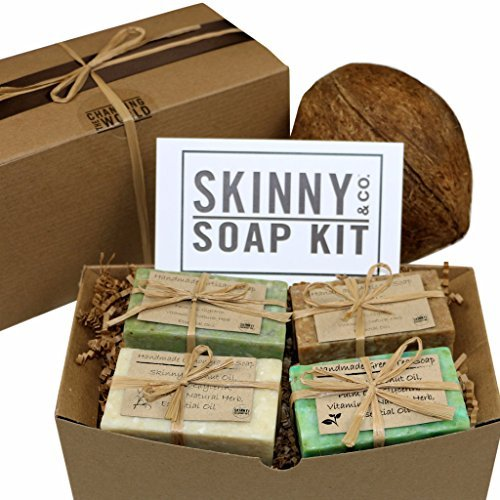 Skinny & Co. Coconut Oil 4 oz. Handcrafted Raw Soap Sampler Gift Set by Skinny & Co. - Soap-sampler