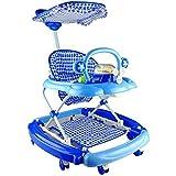 مشاية اطفال باللون الازرق بمستويات ويمكن استخدامها ككرسي هزاز