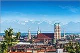 Posterlounge Acrylglasbild 30 x 20 cm: Alpenblick München von euregiophoto - Wandbild, Acryl Glasbild, Druck auf Acryl Glas Bild