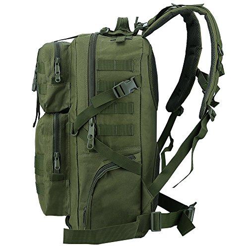 TTLIFE Di alta qualità zaino 45L Colori multipli per il sacchetto Bike Hike alpinismo attività all'aperto militare per i viaggi (Esercito Verde)