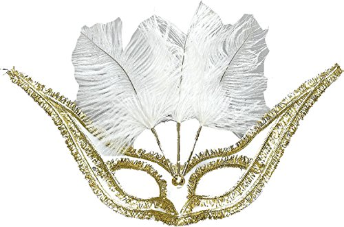 Mädchen Fancy Club Party Masquerade Ball Gran Gala Domino Feder Face Eye Mask UK Gr. Einheitsgröße, (Erwachsene Gala Maske Für)
