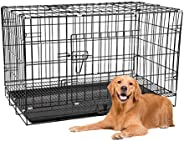Dog Crate Pet Cage Kennel Playpen for Extra Large Medium Small Pet Puppy Cat Rabbit Indoor Outdoor with Tray