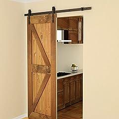 ProduktbeschreibunDieses Schiebe-Holz-Tür-Installationssatz-Satz ist ein großes Entwurf für Haus. Es ist Platz sparend. Die Tür ist von einem Stück der Hardware mit einem Rad, das rollt entlang einer Spur an der Wand montiert. Die Schiebe-Hardware-Se...