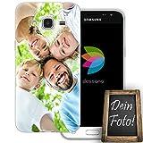 dessana Eigenes Foto Transparente Silikon TPU Schutzhülle 0,7mm dünne Handy Tasche Soft Case für Samsung Galaxy J3 (2016) Personalisiert Motiv