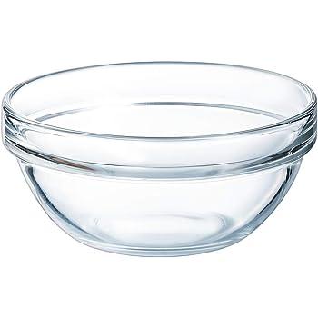 /Ø 20 cm transparent H 9,2 cm Arcoroc Stapelschale 1 Stk - Glasschale Salatschale Salatsch/üssel