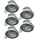 1–10x spot encastrable Détecteur de mouvement 360compatible LED 6m orientable en aluminium Argenté