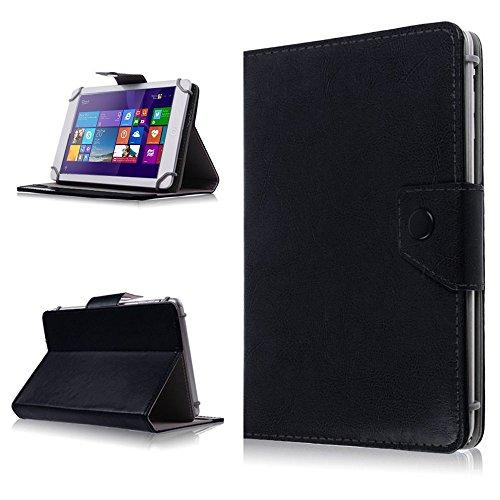 NAUC® Tasche Schutz Hülle f Telekom Puls Tablet Schutzhülle Case Cover Etui Bag, Farben:Schwarz