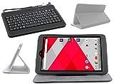Duragadget Etui Aspect Cuir Noir + Clavier AZERTY pour CDISPLAY Tablette Tactile...