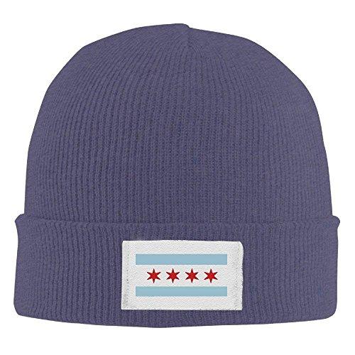 KLYDH Unisex Flag of Chicago Winter Warm Knit Beanie Skully Cap