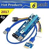 ZYPMM Pci-1X a 16X cavo di prolunga per estendere il cavo PCIE USB3.0 dedicato all'estrazione 4p (6 pacco)