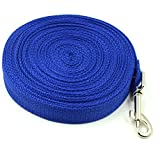 Yontree Adjustable Pet Dog Nylon Traction Rope Training Lead Strap Blue 20m/787.40""