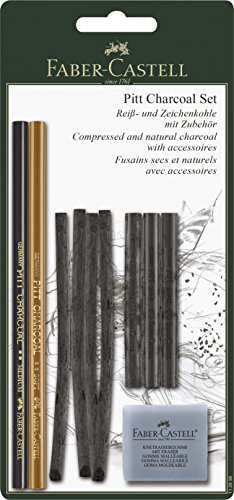 Faber-Castell 112996 - 10-teiliges PITT Charcoal Set