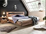 Woodkings Holz Bett 180x200 Marton Doppelbett Akazie Rustic Schlafzimmer Massivholz Design Doppelbett Schwebebett Massive Naturmöbel Echtholzmöbel günstig