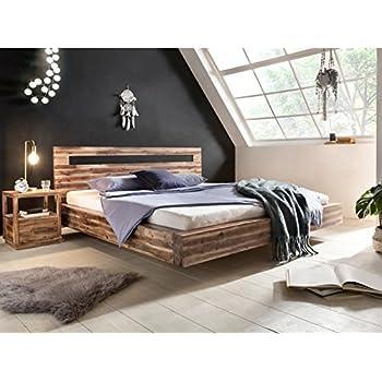 Woodkings® Bett 180x200 Hampden Doppelbett recycelte Pinie ...