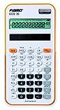 Wissenschaftlicher Rechner Fiamo ECO30 Wissenschaftlicher Taschenrechner, 138 Funktionen und 10 stelligem Display, weiß/orange