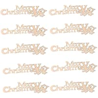royalr 10PCS / Set Carta de Navidad álbum de Recortes de Madera Colección Arte Hecho a Mano DIY de Navidad del Libro de Recuerdos de Accesorios decoración del hogar