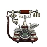MMM- Europäisches Harz-Telefon-Festnetz reparierte Retro kreatives altes antikes Telefon ( Farbe : Bronze )