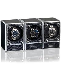Vitrina exhibidora de relojes Piccolo 3 Style Negro Caja giratoria (Watch Winder) Rotador de relojes de lujo