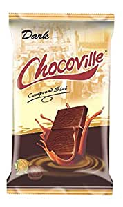 Chocoville Compound Chocolate Slab (Dark), 500Gms