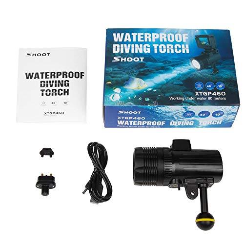 Shoot Tauchen LED Taschenlampe Unterwasser 60m wasserdichte Fotografie Video Torch