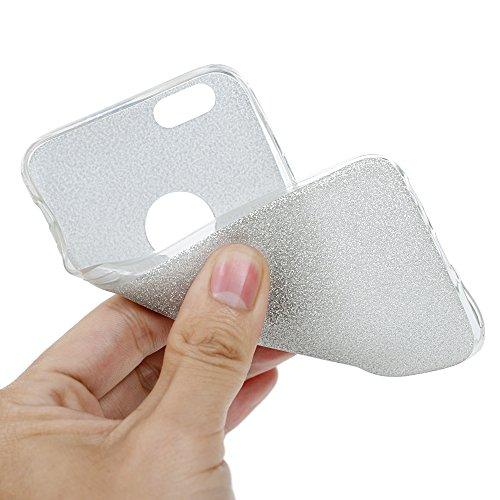 MAXFE.CO 2×TPU Silikon Hülle für iPhone 5 Handyhülle Schale Etui Protective Case Cover Rück mit Bunte Muster Design (Rose gold + Richie Gold)+ 1 x Stöpsel Staubschutz + 1 x Eingabestift Silber + Rosa