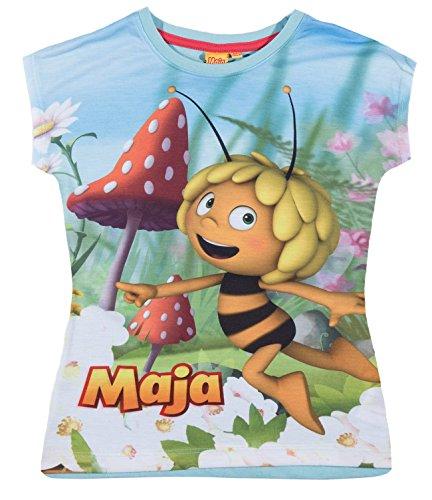 Biene Maja Mädchen T-Shirt - hellblau - 116 (T-shirt Bee Light)