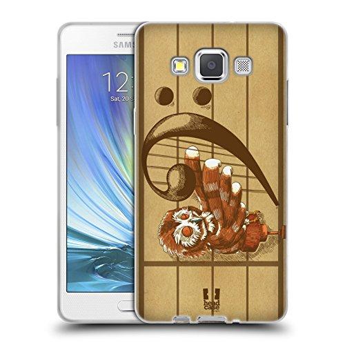 Head Case Designs F Notenschlüssel Partitur Soft Gel Hülle für Samsung Galaxy A5