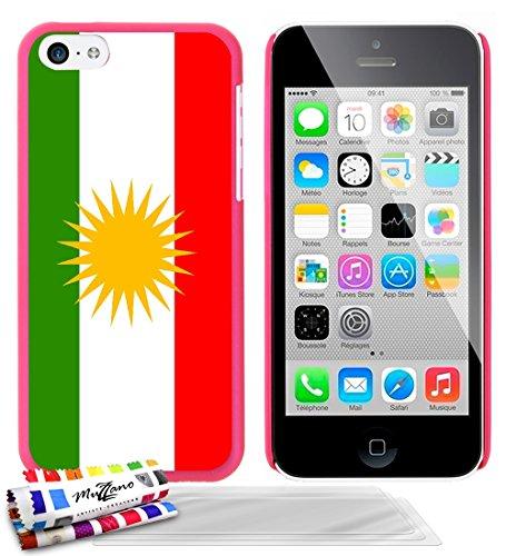 Ultraflache weiche Schutzhülle APPLE IPHONE 5C [Flagge Kurdistan] [Gelb] von MUZZANO + STIFT und MICROFASERTUCH MUZZANO® GRATIS - Das ULTIMATIVE, ELEGANTE UND LANGLEBIGE Schutz-Case für Ihr APPLE IPHO Bonbonrosa + 3 Displayschutzfolien